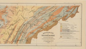 Agricultural Map of East Tennessee, 1883