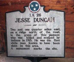 Jesse Duncan Historical Marker