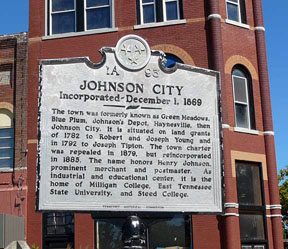 Johnson City Historical Marker