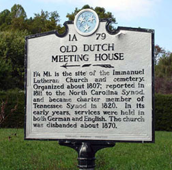 Old Dutch Meeting House Historical Marker