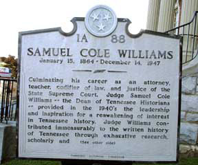 Samuel Cole Williams Historical Marker