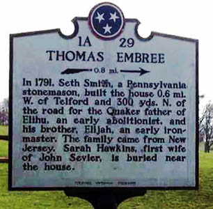 Thomas Embree Historical Marker