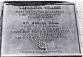 Washington College Historical Marker