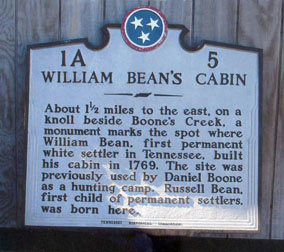 William Bean's Cabin Historical Marker