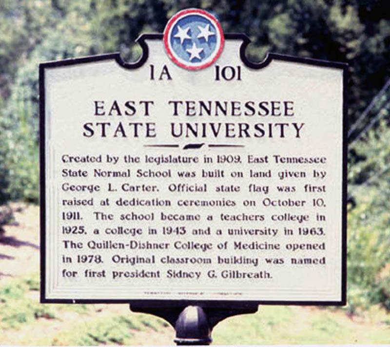 ETSU Historical Marker