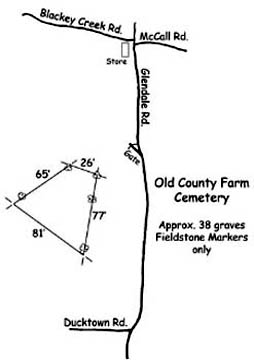 Map of Poor Farm Old Cemetery