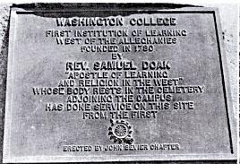 Washington College Historical Plaque
